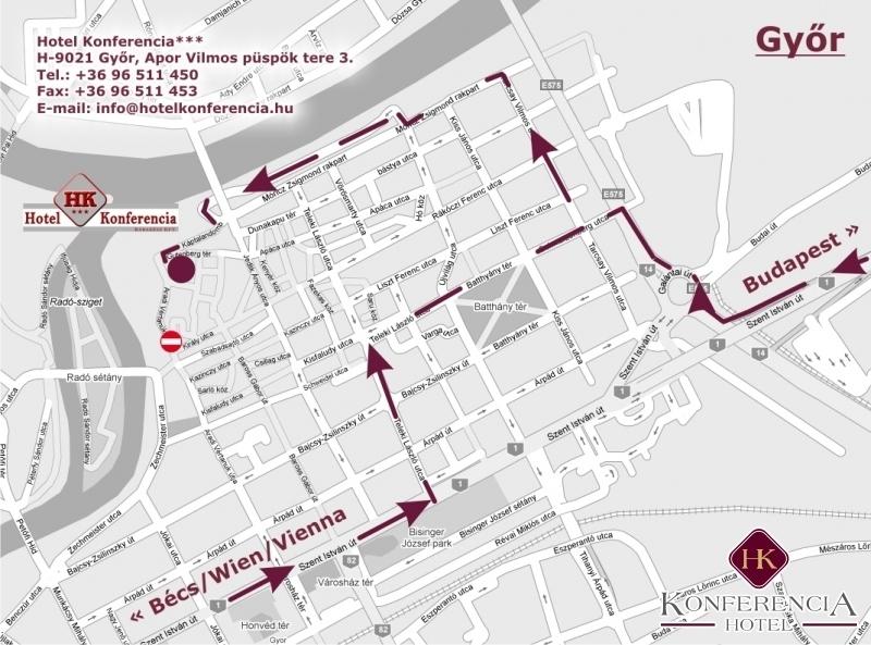 Konferencia Hotel Térkép